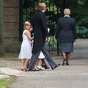 NLD/Lage Vuursche/20130816 - Uitvaart prins Friso, Willem - Alexander, Maxima en kinderen Amalia, Alexia en Arianne