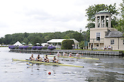 Henley, Great Britain.  Henley Royal Regatta. M4-, Wyfold Challenge Cup, Nottingham Rowing Club 'A', and Tideway Scullers School,  power away from the Start, at Temple Island, in the Semi-Final. River Thames Henley Reach.  Royal Regatta. River Thames Henley Reach.  Saturday  02/07/2011  [Mandatory Credit  Intersport Images] . HRR