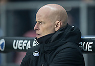 FOOTBALL: Coach Ståle Solbakken (FC København) looks on before the UEFA Europa League, Round of 32, 1st leg match between FC København and Atlético Madrid at Parken Stadium, Copenhagen, Denmark on February 15, 2018. Photo: Claus Birch.