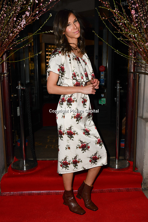 Isabella Charlotta Poppius attend Travel bag brand hosts the launch of its exclusive luxury collection of handbags in collaboration with model and designer Anastasiia Masiutkina  D'Ambrosio on 26 March 2019, Caviar House & Prunier 161 Piccadilly, London, UK.