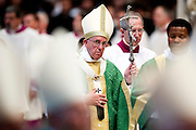 Vatican City oct 4th 2015, opening mass in St Peter's Basilica for  the bishops synod on family. In the picture pope Francis