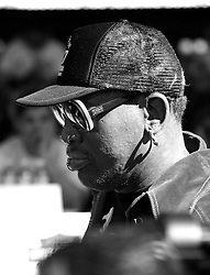 NBA Legend Denis Rodman makes a brief appearance at the Wing Bowl XXIV: 'Game of Bones' at Wells Fargo Center in Philadelphia, PA.