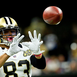 Oct 16, 2016; New Orleans, LA, USA; New Orleans Saints wide receiver Willie Snead (83) before a game against the Carolina Panthers at the Mercedes-Benz Superdome. Mandatory Credit: Derick E. Hingle-USA TODAY Sports