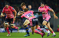 Rugby Union - 2017 / 2018 European Rugby Champions Cup - Pool Three: Leinster vs. Exeter Chiefs<br /> <br /> Leinster's Garry Ringrose in action against  Exeter's Lachlan Turner, at Aviva Stadium, Dublin.<br /> <br /> COLORSPORT/KEN SUTTON