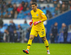 September 22, 2018 - Cardiff City, England, United Kingdom - Ederson of Manchester City during the Premier League match between Cardiff City and Manchester City at Cardiff City Stadium,  Cardiff, England on 22 Sept 2018. (Credit Image: © Action Foto Sport/NurPhoto/ZUMA Press)