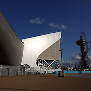 The Aquatics Centre at Olympic Park, Stratford during the London 2012 Olympic games preparation.  London, UK. 20th July 2012. Photo Tim Clayton