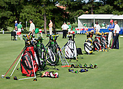 Bags at practice round Stanford St. Jude in Memphis.