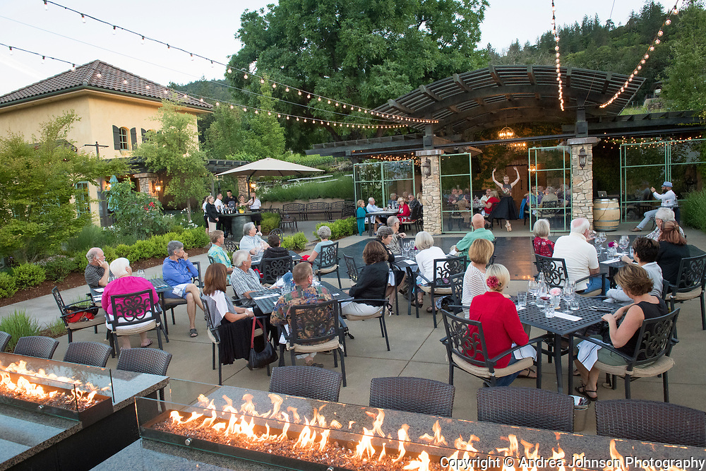 Winemaker dinner at Dancin Vineyards near Jacksonville,  Rogue Valley AVA, Southern Oregon
