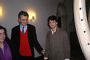 William Shawcross and Conrad Shawcross. private view for Continuum by Conrad Shawcross. Queen's House. National Maritime Museum. Greenwich. 17 December 2004. ONE TIME USE ONLY - DO NOT ARCHIVE  © Copyright Photograph by Dafydd Jones 66 Stockwell Park Rd. London SW9 0DA Tel 020 7733 0108 www.dafjones.com