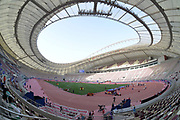 General overall view of the Asian Athletics Championships at  Khalifa International Stadium aka National Stadium at the Aspire Zone in Doha, Qatar, Sunday, April 22, 2019. Doha will play host to the 2019 IAAF World Championships in Athletics and 2022 FIFA World Cup. (Jiro Mochizuki/Image of Sport via AP)