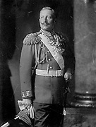 Wilhelm II (1859-1941) Emperor of Germany 1888-1918. Three-quarter length image of Wilhelm (William) in military  uniform, hand on sword hilt disguising his hand injured at birth and affected by Erb's Palsy. Medicine Orthopaedics