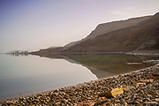Israel, Dead Sea landscape view