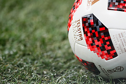 July 1, 2018 - Nizhny Novgorod, Russia - Official play-off match ball Telstar Mechta (Dream) is seen on the pitch during the 2018 FIFA World Cup Russia Round of 16 match between Croatia and Denmark on July 1, 2018 at Nizhny Novgorod Stadium in Nizhny Novgorod, Russia. (Credit Image: © Mike Kireev/NurPhoto via ZUMA Press)