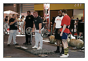 Body Power 2010. NEC Birmingham..Sunday 23-5-2010.Terry Hollands overseas a strongman training session