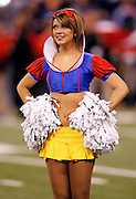 An Indianapolis Colts cheerleader is dressed in costume for Halloween weekend during the NFL week 8 football game against the Houston Texans on Monday, November 1, 2010 in Indianapolis, Indiana. The Colts won the game 30-17. ©Paul Anthony Spinelli