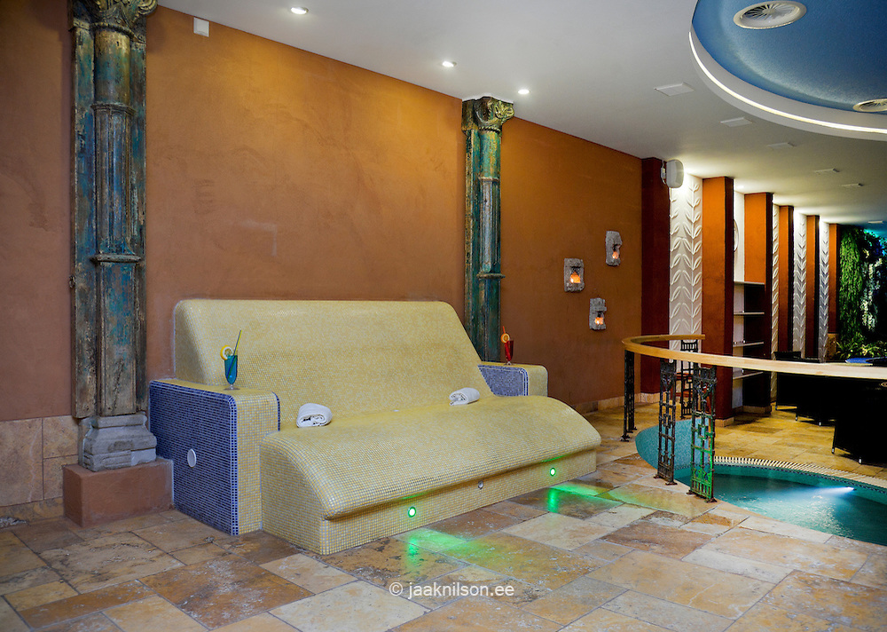 Magnificent Steam Lighted Sauna Room Heated Stone Lounge Chairs And Machost Co Dining Chair Design Ideas Machostcouk