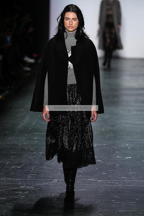 Bruna Ludtke walks the runway wearing Vivienne Tam Fall 2016 during New York Fashion Week on February 15, 2016