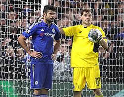 Diego Costa of Chelsea and Iker Casillas of FC Porto - Mandatory byline: Paul Terry/JMP - 09/12/2015 - Football - Stamford Bridge - London, England - Chelsea v FC Porto - Champions League - Group G