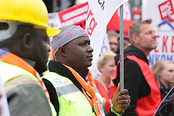 May 1, 2019 - Amsterdam, Netherlands - Dutch labor organization activists and workers gather during marches protests on May 1, 2019 in Amsterdam,Netherlands. People demonstrate around the world on May Day against all forms of exploitation, discrimination and repression. (Credit Image: © Paulo Amorim/NurPhoto via ZUMA Press)
