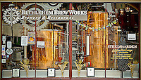 Storefront of Brew Works downtown Bethlehem Steel Bethlehem Pennsylvania Lehigh Valley