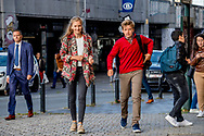 BRUSSELS -First school day in brussels king phillipe  Princess Elisabeth, them to school COPYRIGHT ROBIN UTRECHT<br /> BRUSSEL - Eerste schooldag in brussel koning Felip neemt prins en prinses Prins Emmanuel, Princesse Eleonore, Prins Gabri&euml;l, Crown Princess Elisabeth, ze naar school COPYRIGHT ROBIN UTRECHT<br /> Belgian Royals walk to Sint Jan Berchmans College, Brussels, Belgium - 01 Sep 2017