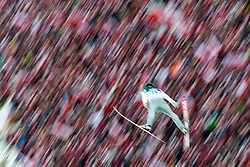 Poland, Zakopane - 2018 January 28: Anze Semenic from Slovenia soars through the air 18th World Cup Competition Men's HS140 Large Hill Individual during FIS Ski Jumping World Cup Zakopane 2017/2018 - Day 3 at Wielka Krokiew jumping hill on January 28, 2018 in Zakopane, Poland.<br /> <br /> Mandatory credit:<br /> Photo by © Adam Nurkiewicz<br /> <br /> Adam Nurkiewicz declares that he has no rights to the image of people at the photographs of his authorship.<br /> <br /> Picture also available in RAW (NEF) or TIFF format on special request.<br /> <br /> Any editorial, commercial or promotional use requires written permission from the author of image.