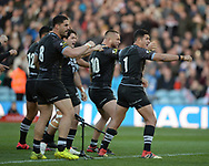 New Zealand perform the Haka before the Autumn International Series match at Elland Road, Leeds<br /> Picture by Richard Land/Focus Images Ltd +44 7713 507003<br /> 11/11/2018