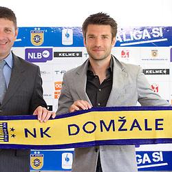 20120402: SLO, Football - Stevan Mojsilovic and Luka Elsner at NK Domzale