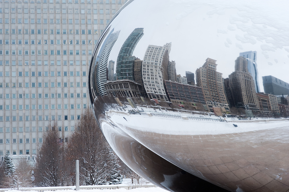 The Bean in snowy Chicago