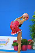 Assymova Aliya during qualifying at ball in Pesaro World Cup 10 April 2015.<br />