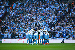 Coventry City huddle prior to kick off - Photo mandatory by-line: Jason Brown/JMP -  02/04//2017 - SPORT - Football - London - Wembley Stadium - Coventry City v Oxford United - Checkatrade Trophy Final