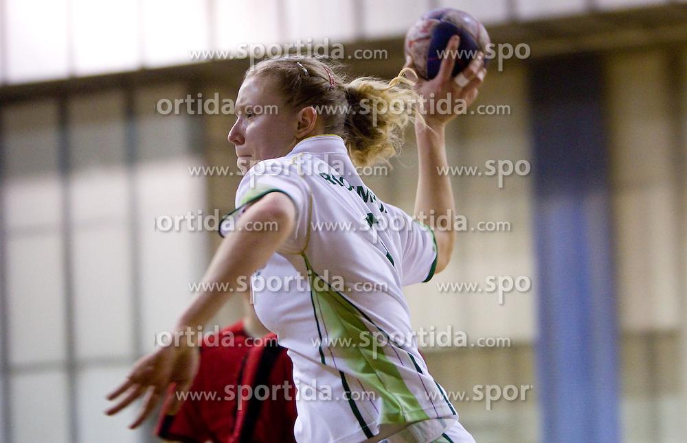 Ekaterina Ceckova of Olimpija during handball match of 1st Slovenian women league Liga Z dezele between RK Olimpija Ljubljana and RK Piran on January 27, 2011 in Arena Tivoli, Ljubljana, Slovenia.  (Photo By Vid Ponikvar / Sportida.com)