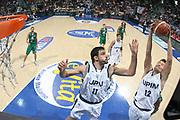 DESCRIZIONE : Bologna Lega A1 2007-08 UPIM Fortitudo Bologna Montepaschi Siena <br /> GIOCATORE : Kristaps Janicenoks Dalibor Bagaric <br /> SQUADRA : UPIM Fortitudo Bologna<br /> EVENTO : Campionato Lega A1 2007-2008 <br /> GARA : UPIM Fortitudo Bologna Montepaschi Siena<br /> DATA : 14/10/2007 <br /> CATEGORIA : Special Rimbalzo<br /> SPORT : Pallacanestro <br /> AUTORE : Agenzia Ciamillo-Castoria/M.Marchi