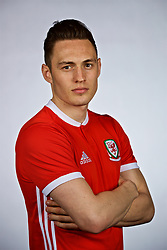 NANNING, CHINA - Saturday, March 24, 2018: Wales' Billy Bodin during a squad photo shoot at the Wanda Realm Hotel on day five of the 2018 Gree China Cup International Football Championship. (Pic by David Rawcliffe/Propaganda)