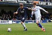Southend United midfielder Kevan Hurst  and Gillingham midfielder Jake Hessenthaler during the Sky Bet League 1 match between Southend United and Gillingham at Roots Hall, Southend, England on 19 March 2016. Photo by Martin Cole.