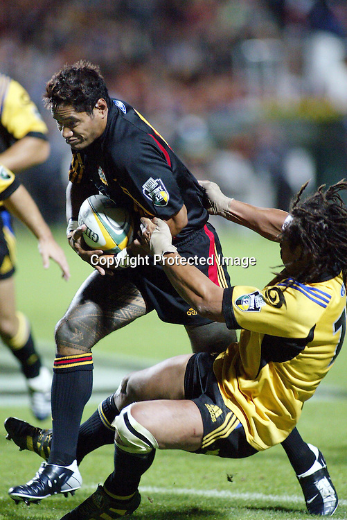 20th February, 2004. Westpac Stadium, Hamilton, New Zealand. Rugby Union Super 12. Chiefs v Hurricanes.<br />Lome Fa'atau.<br />The Chiefs won the match, 19 - 7.<br />Pic: Photosport