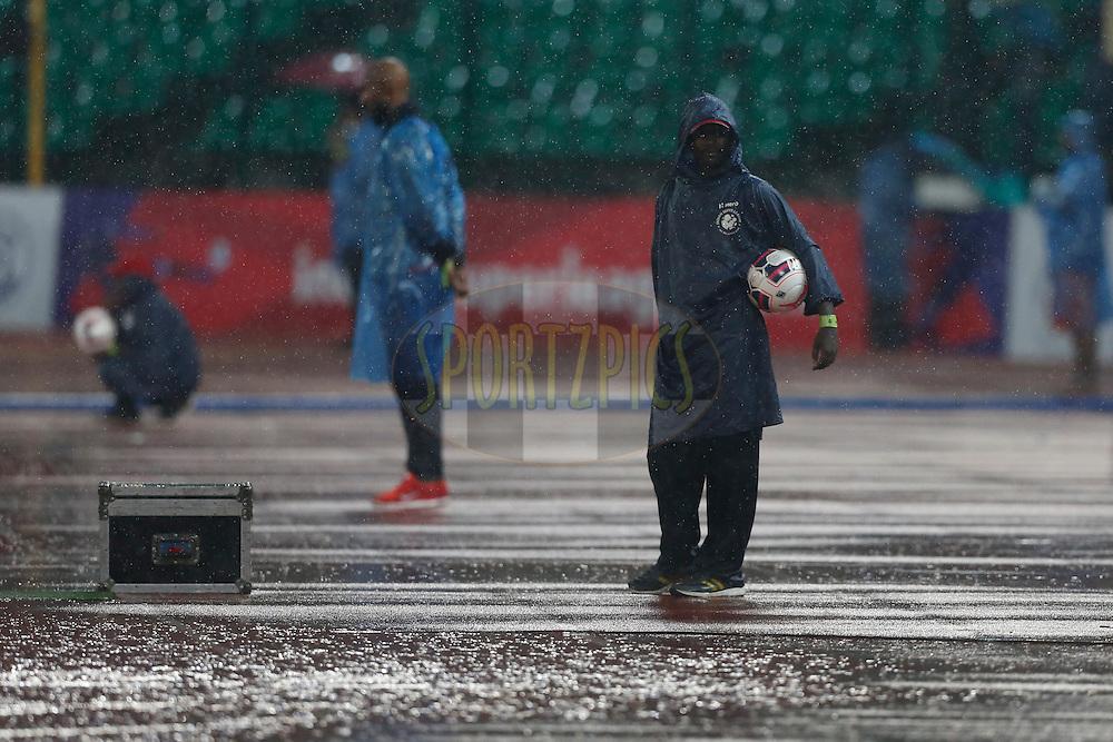 Ball Boy during match 51 of the Indian Super League (ISL) season 2  between Chennaiyin FC and<br />  Mumbai City FC held at the Jawaharlal Nehru Stadium, Chennai, Tamil Nadu, India on the 1st December 2015.<br /> <br /> Photo by Deepak Malik / ISL/ SPORTZPICS