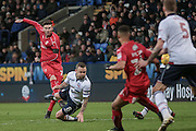 Ben Gladwin (Swindon Town) scores a goal and levels the game at 1-1 during the EFL Sky Bet League 1 match between Bolton Wanderers and Swindon Town at the Macron Stadium, Bolton, England on 14 January 2017. Photo by Mark P Doherty.