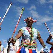 Zuid Afrikaanse traditionele Xhosa dans tijdens Freedom Day op 27 april.
