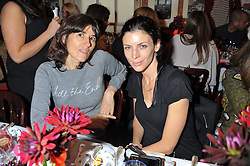 Left to right, BELLA FREUD and LIBERTY ROSS at a lunch to celebrate the the Lulu & Co Autumn/Winter 2011 collection held at Harry's Bar, 26 South Audley Street, London W1 on 21st June 2011.