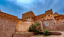Exterior view of the part ruined and abandoned Kasbah at Telouet, southern Morocco<br /> <br /> (c) Andrew Wilson | Edinburgh Elite media