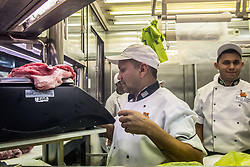 June 28, 2017 - Sao Paulo, SP, Brazil - The meat section today of Brazilian meats at the Boi Feliz Supermarket in Sao Paulo. The United States just temporarily suspended the purchase of Brazilian fresh meat. Since March, after Operation Loose Meat, Americans have begun to inspect all lots of fresh meat sold by Brazil - 11% were rejected. The reason was a reaction of the vaccine against foot-and-mouth disease, a kind of lesion that is common according to the ranchers. Between January and May the U.S. was the eighth main destination of our fresh beef. About 12 thousand tons were shipped there, handling almost US $ 49 million. (Credit Image: © Cris Faga via ZUMA Wire)