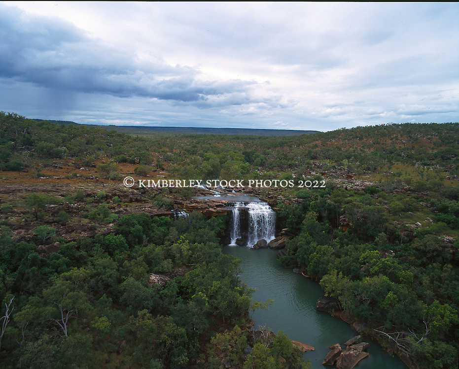 Little Mertens Falls in the Kimberley wet season.