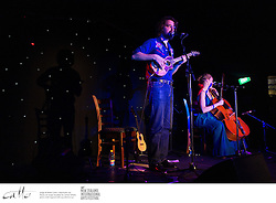 Canadian ukulele master James Hill and cellist Anne Davidson perform at the TelstraClear Festival Club, at the New Zealand International Arts Festival in Wellington.