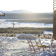 Noorwegen Langedrag 31 december 2008 20081231 Foto: David Rozing .Landschap en waakhond.Landscape and dog at house..Foto: David Rozing/