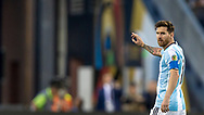 Leo Messi calls for a pass during a quarter-final matchup of the Copa America Centenario 2016 in Foxborough, Massachusetts, Saturday June 18, 2016.