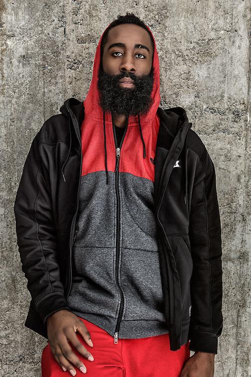 Sports Advertising portrait of NBA athlete James Harden by Michel Leroy PHOTOGRAPHER