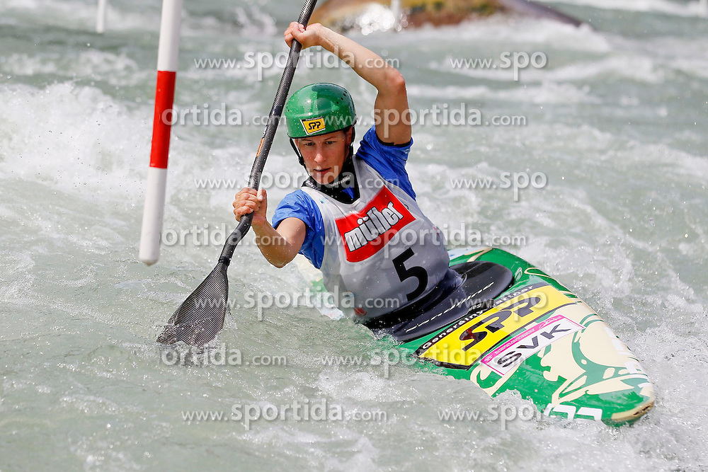 11.05.2012, Eiskanal, Augsburg, GER, ECA, Kanuslalom Europameisterschaft, im Bild Dana MANN (SVK, K1), // during the ECA European Canoe Championships at the Ice channel, Augsburg, Germany on 2012/05/11. EXPA Pictures © 2012, PhotoCredit: EXPA/ Eibner/ Klaus Rainer Krieger..***** ATTENTION - OUT OF GER *****
