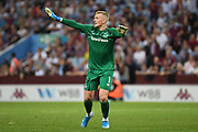 Everton goalkeeper Jordan Pickford (1) during the Premier League match between Aston Villa and Everton at Villa Park, Birmingham, England on 23 August 2019.