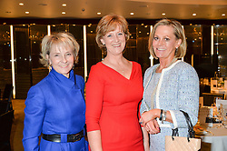 Left to right, JULIA SAMUEL godmother to Prince George, ANN CHALMERS CEO of Child Bereavement UK and JULIETTE JAKES at a ladies lunch in aid of the charity Child Bereavement UK held at The Bulgari Hotel, 171 Knightsbridge, London on 25th February 2016.
